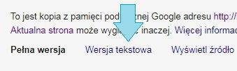 Wersja tekstowa Google