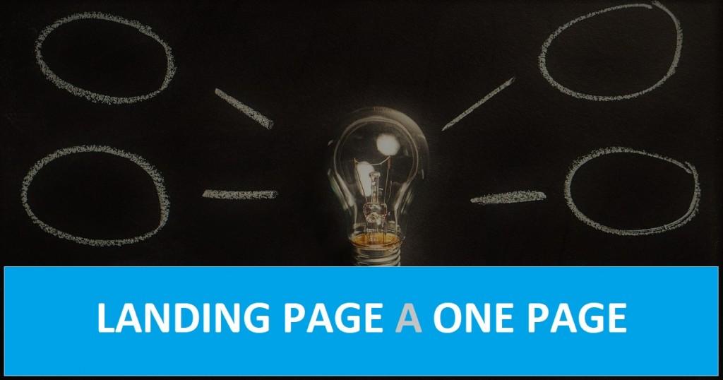 Różnice landing page, a one page